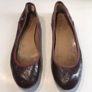 Like new, Ugg patent leather flats slip ons sandal